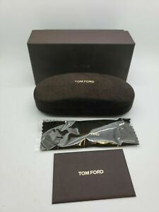 BRAND NEW Tom Ford Eyeglasses  Brown Suede Snap Hard Clam Case
