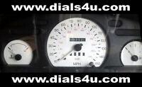 FORD TRANSIT Mk5 / Mk6 (1994-2000) - 140mph or 150mph WHITE DIAL KIT