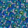 50 Round Cameo Cabochon 14mm Mermaid Scale  Dragon Fish scale Jewelry Resin