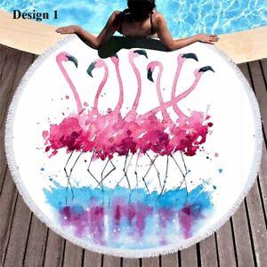 Watercolor Flamingo Floral Love Pattern Large Sports Beach Towel Shawl Blanket