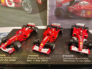 "1/43 Michael Schumacher Ferrari Triple Champion set ""Marlboro"" by Hotwheels"