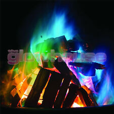 12 x Mystical Fire Magic Coloured Flames Bonfire Sachets Fireplace Pit Patio