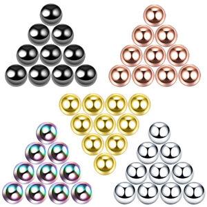 100PCS Wholesale 4SZ 14g/16g Replacement Spare BALLS Labret Piercing Attachments