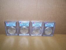 2011 Set 4 Coin American Silver Eagles Certified by PCGS First Strike