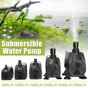 600-3000L/H 65W Submersible Aquarium Tank Fountain Pond Water Pump