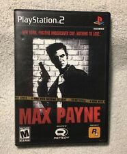 Max Payne (Sony PlayStation 2, 2001)  .. BK COMP W/ SOME PS3   READ!   TESTED