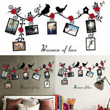 Photo Frames Birds Tree Wall Stickers Family Art Decal Home Decor Removable new