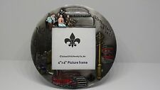 "New Orleans Birthplace of JAZZ Round Metal Picture Frame  4"" x 4"" Slot - WPA0081"
