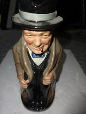 "Vintage Royal Doulton Churchill Toby Jug Pitcher 9"" tall"