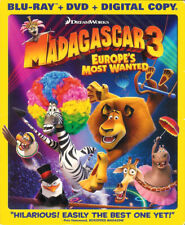 Madagascar 3: Europe's Most Wanted ~ 2-Disc Combo Blu-ray + DVD with Slipcover