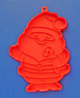 Hallmark COOKIE CUTTER Christmas Vintage SANTA Candy Cane '81 RED SFT