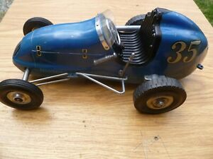 "Vintage Ohlsson and Rice Tether car ""OFFIE"".29 powered blue racer."