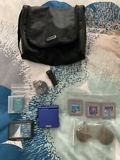NINTENDO GAMEBOY ADVANCE SP COBALT BLUE WITH GAMES/CASE/CHARGER & EXTRAS WORKING