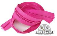 "ZIPPER BY THE YARD YKK #10 Nylon Coil Zipper Tape ""Pink"""