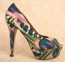 Dune Peep Toes Floral Heels for Women