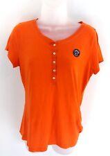 HOLLISTER Womens T Shirt Top M Medium Orange Cotton & Polyester