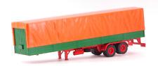 Truck Trailer W/ Canvas Cover Orange / Green Rimorchio Camion 1:43 Model