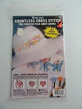 Vogart Crafts Countless Pre Printed Canvas Cross Stitch Kit - Flowers/Bows