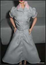 TOP BARBIE  I LOVE LUCY JOB SWITCHING GRAY/PINK DRESS DOLL ACCESSORY FOR DIORAMA