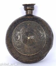Indien Antique Handcrafted Brass Oil Pot Flask Collectible decorative. G7-717 US