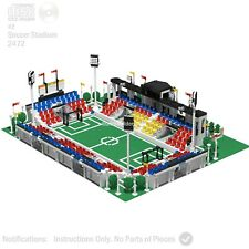 CD Lego Custom Soccer Field Instructions Football Modular PDF Book CC Corner #2