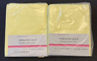 VINTAGE SEARS HARMONY LIGHT PERMA PREST PERCALE TWIN FLAT AND FITTED SHEETS