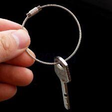 5 Acier Inoxydable 15cm Fil Cable Chaine de Cle Porte-cles pour Randonnee HG