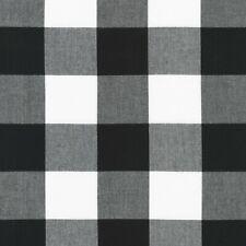 Robert Kaufman Buffalo Check Black & White 16725-2 Quilting Crafts 1000% Cotton