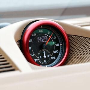 Aluminium Car Center Clock Compass Cover Ring Trim For Porsche Cayenne 2019 1pcs
