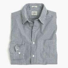 New J. CREW Men Slim Secret Wash shirt in navy stripe item F1654 M