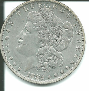 1882 O/S Morgan Silver Dollar - Beautiful Example SKU#8501