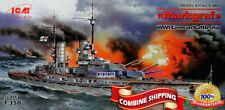"ICM S.005 ""WWI German Battleship SMS MARKGRAF"" Plastic Model Building Kit 1/350"