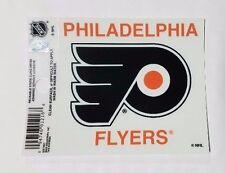 "Philadelphia Flyers 3"" x 4"" Small Static Cling - Truck Car Window Decal NEW NHL"