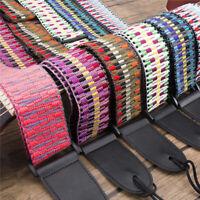 Ethnic Style Adjustable Widen Electric Folk Guitar Bass Shoulder Strap Belt Atom