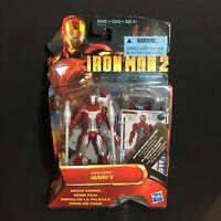 """Iron Man 2 MARK V Suit Movie Series Figure  Hasbro Marvel 2010 4"""" NIP NEW SEALED"""