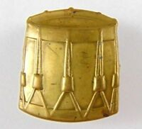 Military Brass Drum Badge - British Army - Militaria - brass band - 2 lugs