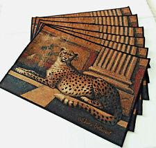 New listing Set Lot 6 Elaine Vollherbst Cheetah Placemats 18� X 12� Brown Black Tan Elegant