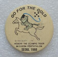 Go for the Gold 1988 SEOUL Olympiad Symbol Olympic Pin Badge Button