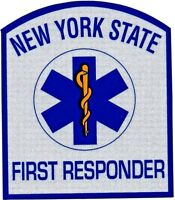 NEW YORK STATE E.M.T. FIRST RESPONDER REFLECTIVE DECAL - Emergency Medical Tech