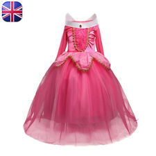 Sleeping Beauty Princess Aurora Costume Girls Fancy Dress Kids Outfit Ages 2-8