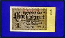 "GERMANY-1 MARK 1937 PENSION BANK ""Deutsche Rentenbank"", THIRD REICH. EF/XF GRADE"