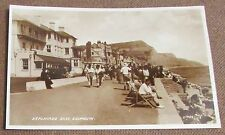 Old Busy Town Street Scene Real Photo Postcard - Sidmouth Devon / Devonshire