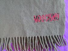 Magnifique  écharpe  MOSCHINO 100% pure laine  TBEG  vintage scarf