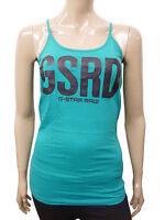 Womens G-Star Strappy Camisole Top GSRD Print Green Size 8 to 16 Ladies A12