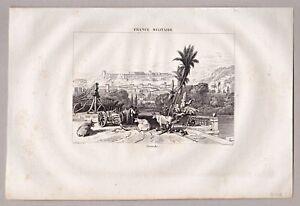 Grenada, Spain, Spanien - Gesamtansicht - Stich, Kupferstich 1835