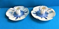 Vintage Pair of Czechoslovakia Ceramic Chamberstick Style Candle Holders