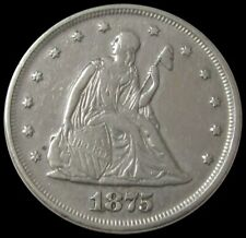 1875 SILVER SEATED LIBERTY TWENTY CENT COIN