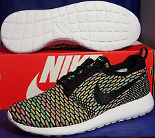 wholesale dealer ce4c6 dde50 Nike Flyknit Roshe Run Id Multicolor Negro Talla 10 (718293-993)