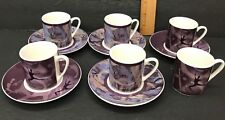 ROYAL BALLET Coalport Porcelain Demitasse Coffee Espresso Set 11 Pc Cups Saucers