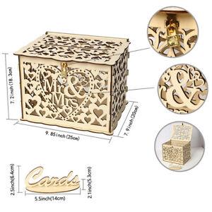 Wedding Card Boxes Wooden Box Wedding Supplies DIY Grid Business Card Wooden .bl